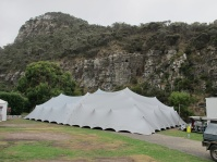Stretch tent set up 3