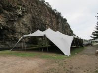 stretch tent hire wedding ceremony