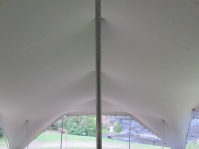 stretch tent hire wedding ceremony inside