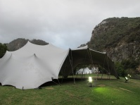 stretch tent hire wedding ceremony outside