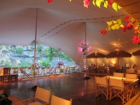 Stretch tent hire great ocean road dancefloor